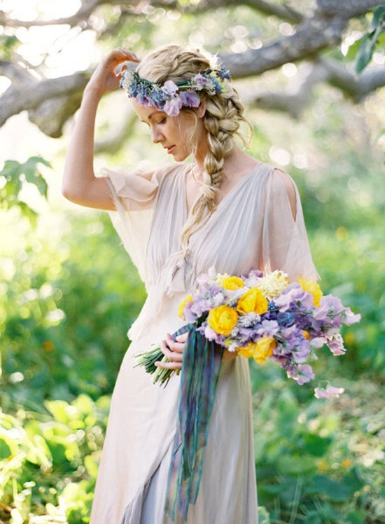 floral crown bride