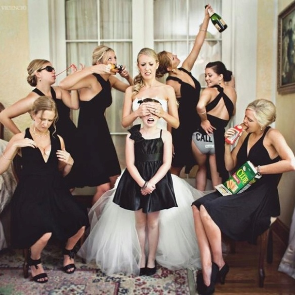 funny bridesmaids photo