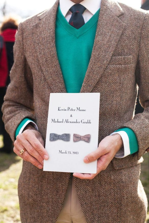 Hold on to an invitation! It makes the perfect keepsake from your wedding day. (via Style Me Pretty, photo by Meg Miller Photography)