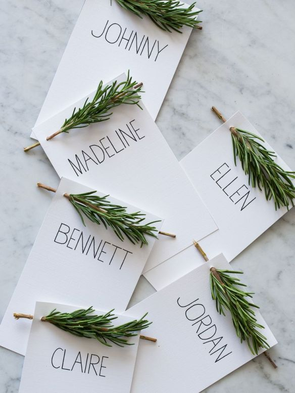 Rosemary Placecards
