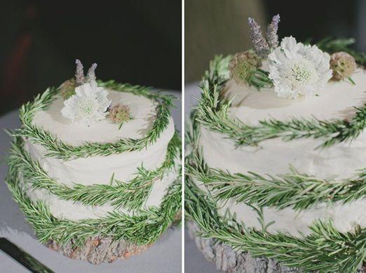 rosemary wreathed cake