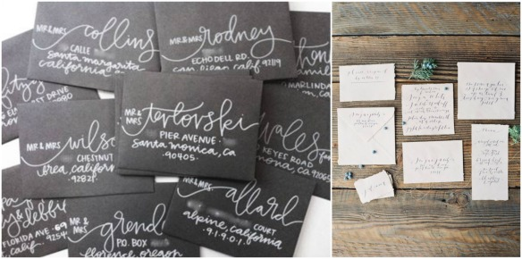 Beautiful Custom Calligraphy by Lauren Ish Design and Brown Linen Design