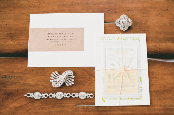 2013 Bridechilla™ Tara and husband Justin's wedding invitation suite... love the modern elegance! (onelove photography)