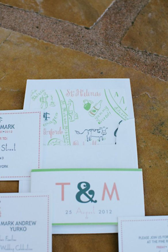 2012 Bridechilla™ Tracey and husband Mark's wedding invitation suite for their Off The Beaten Path Wedding. (vIa Style Me Pretty, photo by What Shanni Saw)