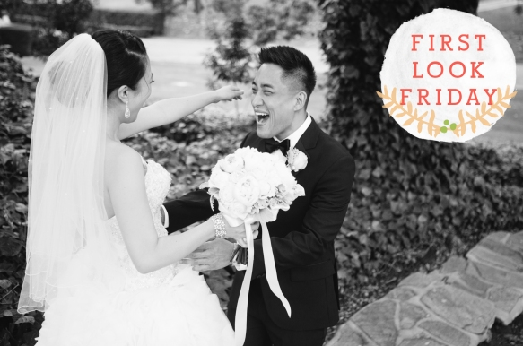 First Look Photo by Michelle Kim Photography